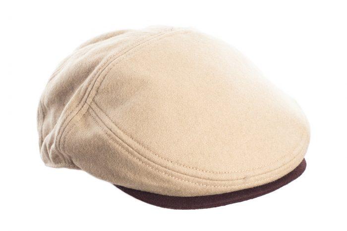 Beige and Brown Flat Cap