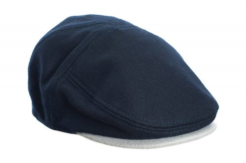 Navy and Grey Flat Cap