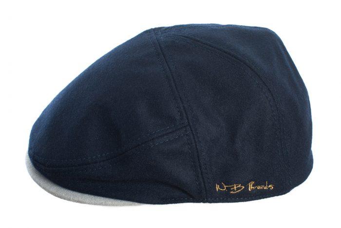 Navy and Grey Flat Cap